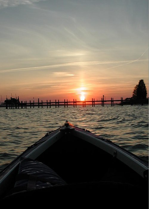 Rappahannock River Greeting Card featuring the photograph Rapphannock Kayak Sunset by Kent Clizbe