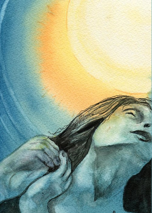 Watercolor Greeting Card featuring the painting Rapture by Brenda Owen