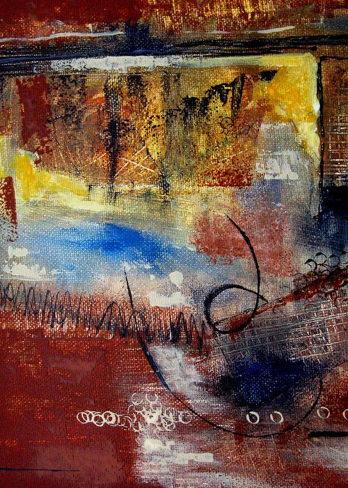 Abstract Greeting Card featuring the painting Raw Emotions by Ruth Palmer