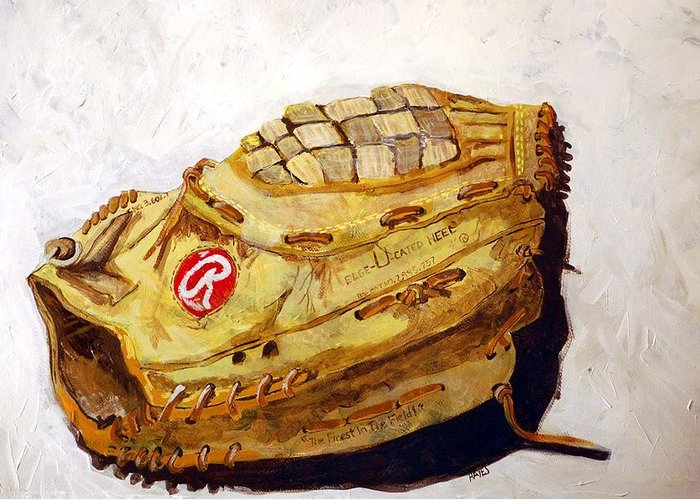 Outfield Greeting Card featuring the painting Rbg 36 Dale Murphy by Jame Hayes