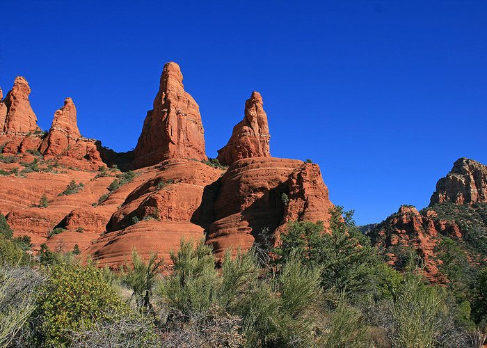 Sedona Greeting Card featuring the photograph Reaching Skyward by Gary Kaylor