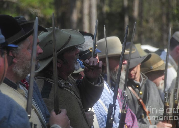 Rebels Greeting Card featuring the photograph Rebel Bayonets by David Lee Thompson