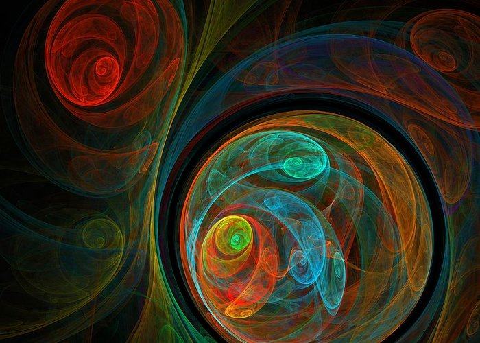 Digital Art Abstract Greeting Cards