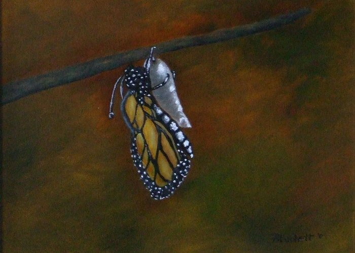 Insects Greeting Card featuring the painting Rebirth by Rebecca Fitchett