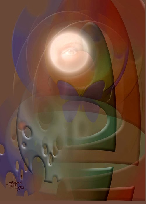 Abstract Greeting Card featuring the digital art Rebirth by Stephen Lucas