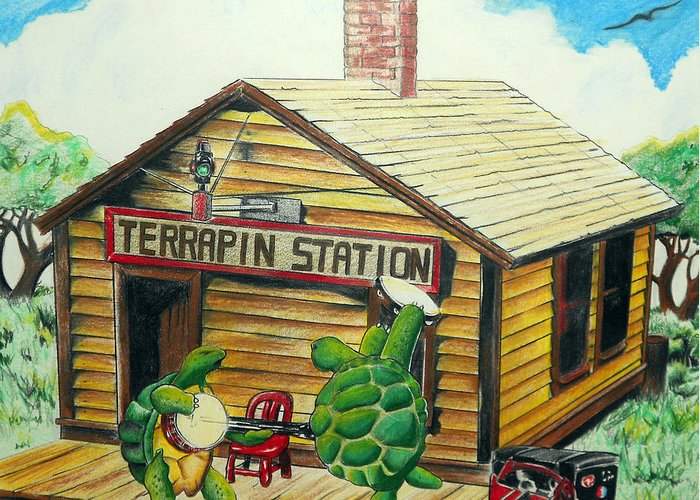 Recreation of terrapin station album cover by the grateful dead grateful dead greeting card featuring the drawing recreation of terrapin station album cover by the grateful m4hsunfo Choice Image