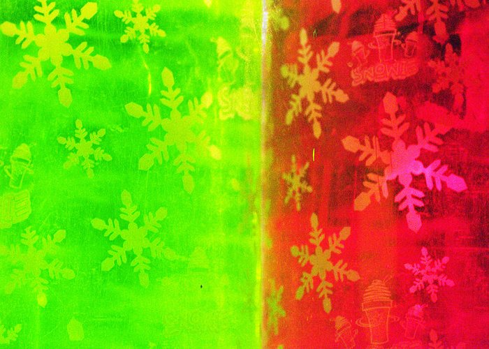 Red Greeting Card featuring the photograph Red And Green With A Snowflake Pattern by Richard Henne