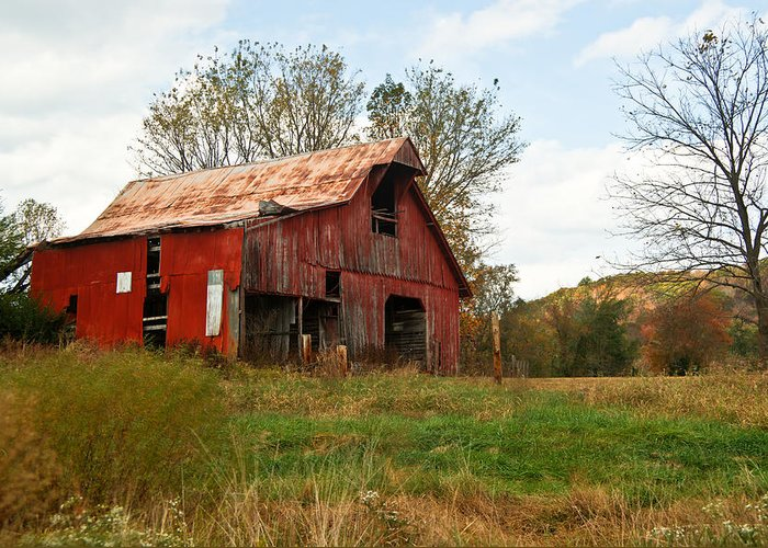 Very Greeting Card featuring the photograph Red Barn Putnum County by Douglas Barnett