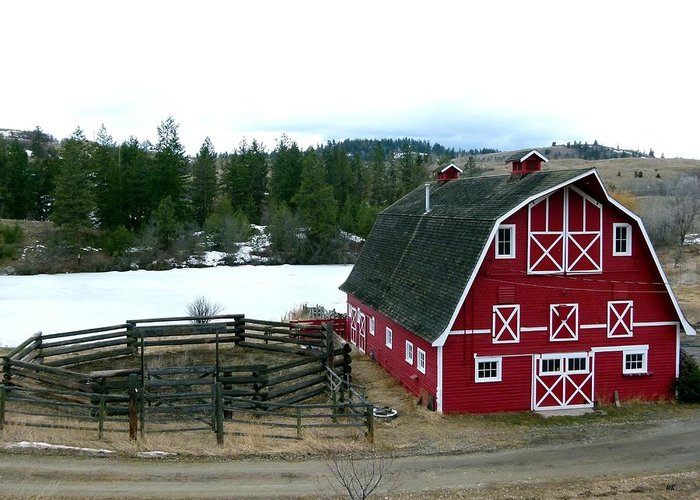 Barn Greeting Card featuring the photograph Red Barn by Will Borden
