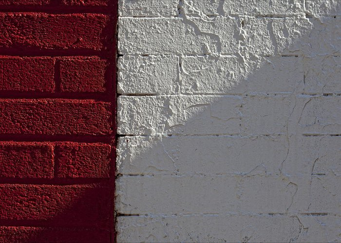 Brick Greeting Card featuring the photograph Red Brick White Brick by Robert Ullmann