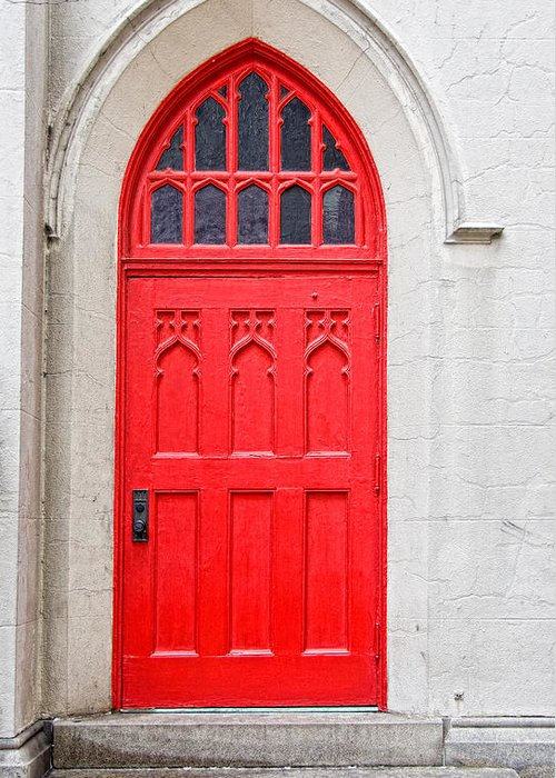Door Greeting Card featuring the photograph Red Door by Christopher Holmes