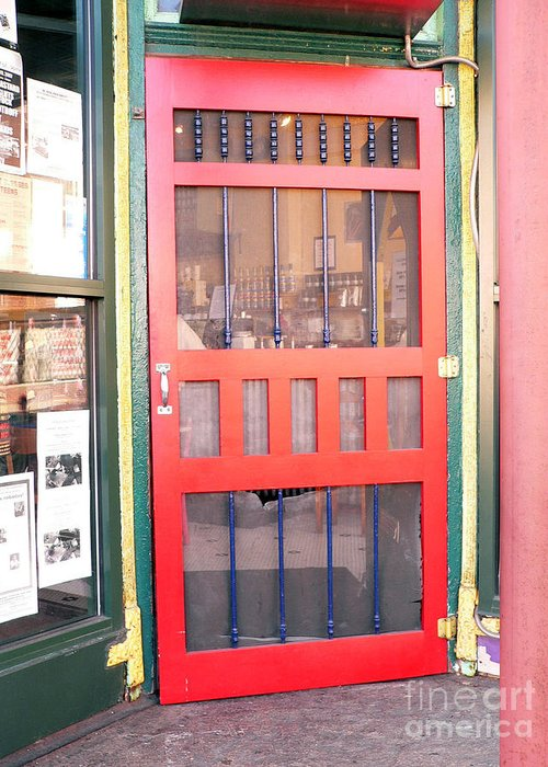Door Greeting Card featuring the photograph Red Door by David Bearden