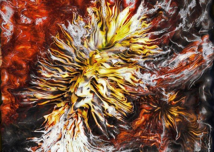 Paul Tokarski Greeting Card featuring the photograph Red Flame Yucca by Paul Tokarski