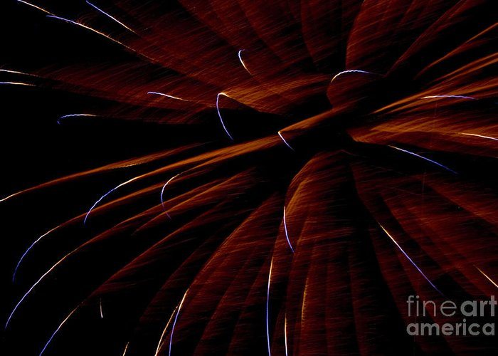 Fireworks Greeting Card featuring the photograph Red Flare by Jeannie Burleson
