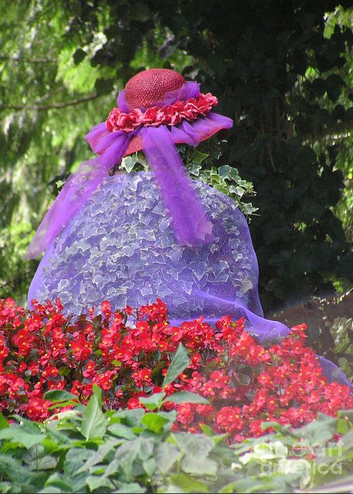Red Hat Greeting Card featuring the photograph Red Hat Veil by Louise Magno
