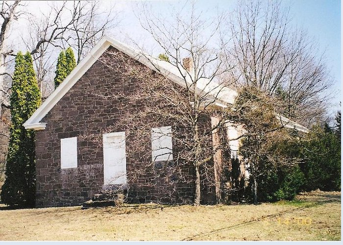 Quaker Meeting House Greeting Card featuring the photograph Red Land Quaker House by Darlene Prowell