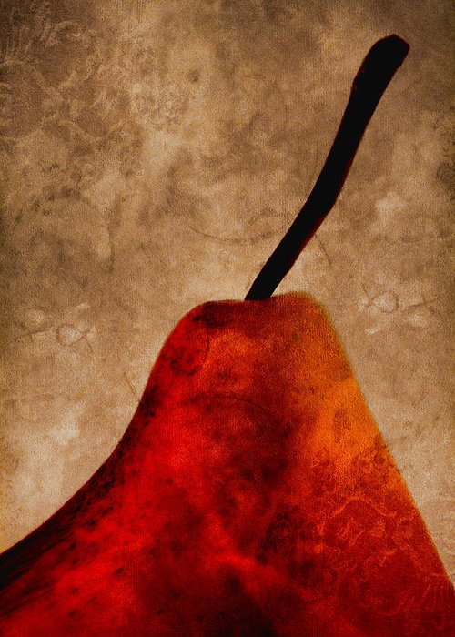 Pear Greeting Card featuring the photograph Red Pear IIi by Carol Leigh