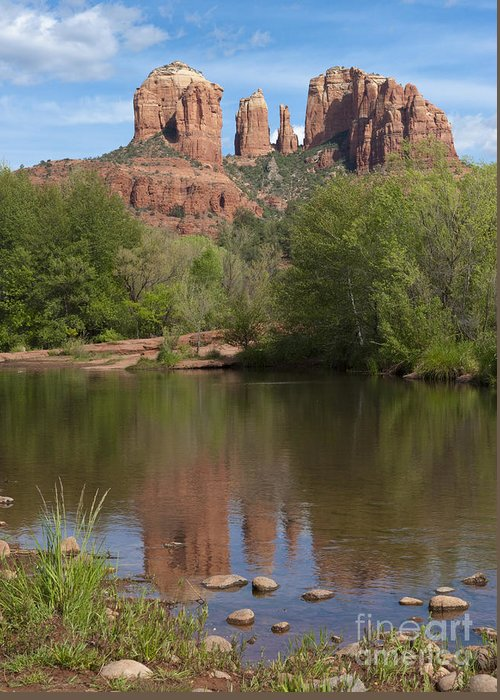 Southwest Greeting Card featuring the photograph Red Rock Crossing In Sedona by Sandra Bronstein