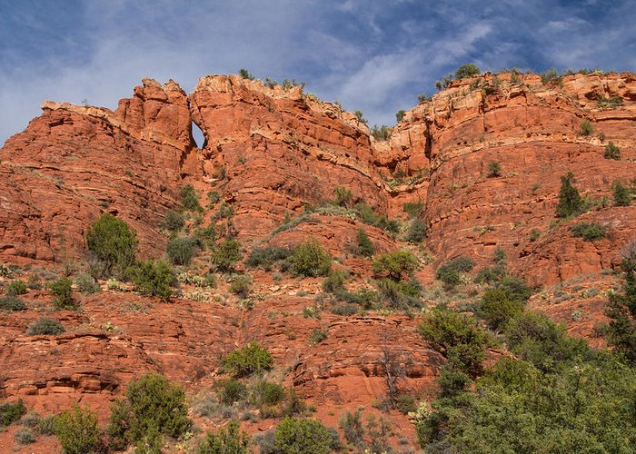 Keyhole Greeting Card featuring the photograph Red Rock Keyhole by Susan Westervelt