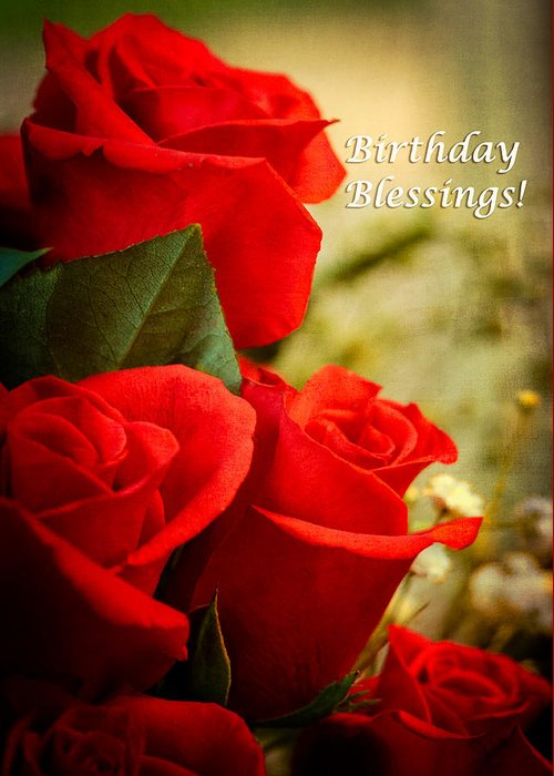 Flowers Greeting Card Featuring The Photograph Red Rose Birthday By Joni Eskridge