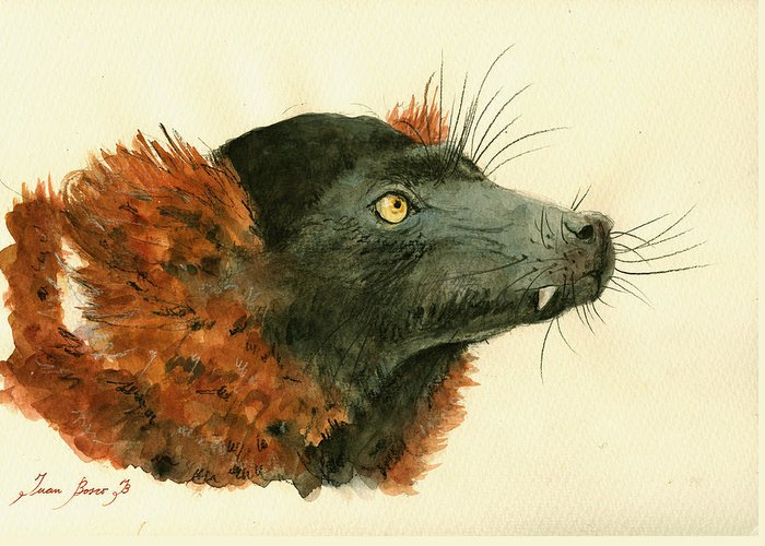 Red-ruffed Lemur Greeting Cards