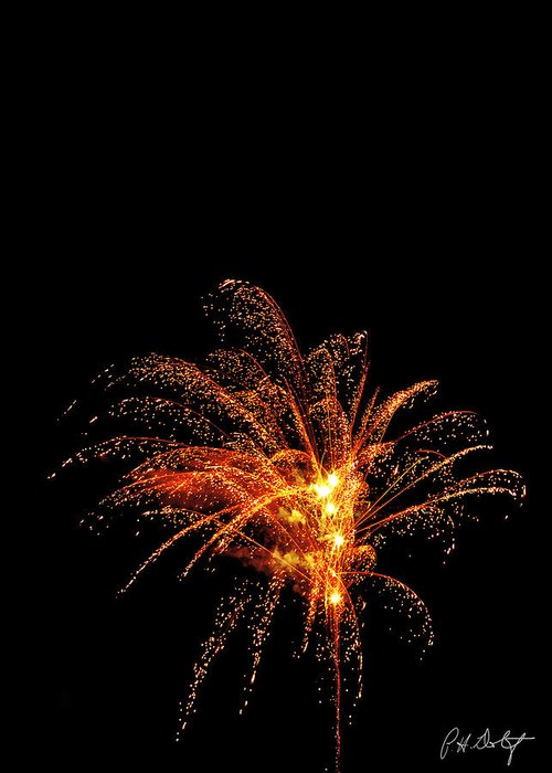 July 4th Greeting Card featuring the photograph Red Splash by Phill Doherty