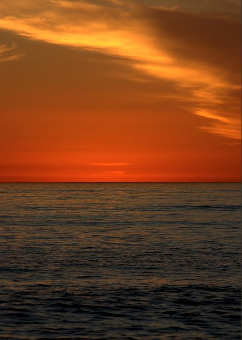 Sunset Greeting Card featuring the photograph Red Sunset by Brad Scott
