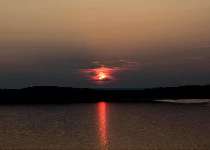 Vivid Sunset Greeting Card featuring the photograph Ghost by Ronald Raymond