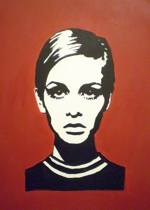 Twiggy Greeting Card featuring the painting Red Twiggy by Ruth Oosterman