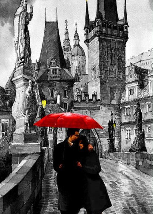 Umbrella Mixed Media Greeting Cards