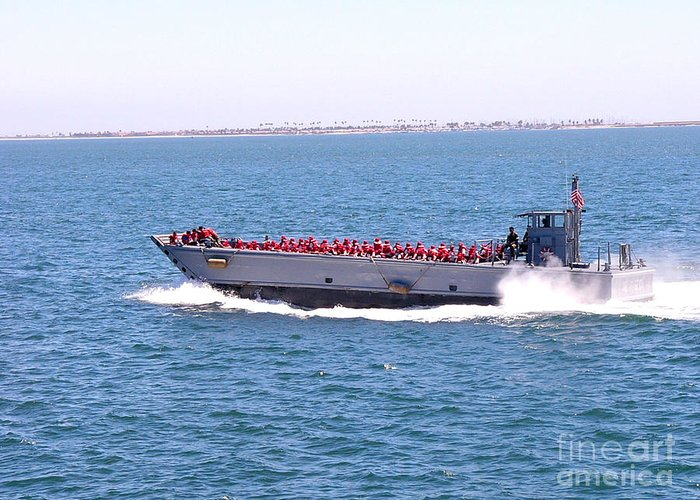 San Diego Bay Greeting Card featuring the photograph Red Vests Skimming To Work by David Bearden