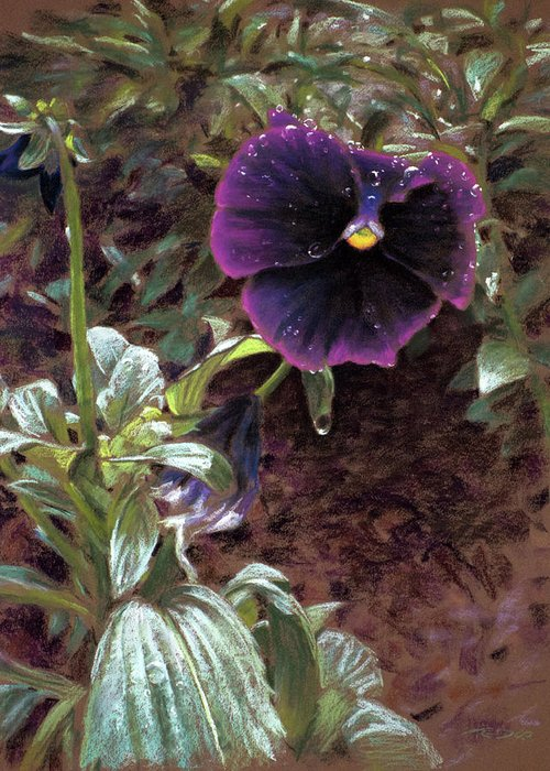 Beautiful Greeting Card featuring the painting Red Violet Dew by Christopher Reid