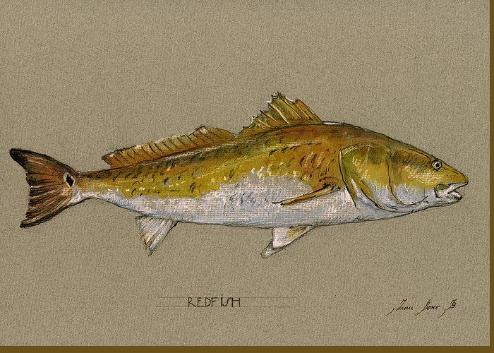 Fishing Poster Greeting Cards