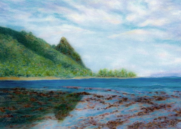 Rainbow Colors Pastel Greeting Card featuring the painting Reef Walk by Kenneth Grzesik