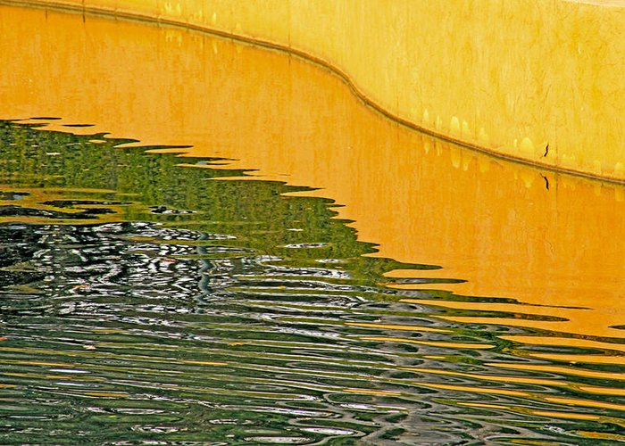 Fine Art Refections Photography. Fine Art Refection Greeting Cards. Refection Pictures. Yellow Wall Refections. Water Refections. Colored Water Photography. Fine Art Photographygreeting Cards Fine Art Canvas Prints. Greeting Card featuring the photograph Refections Of Color by James Steele