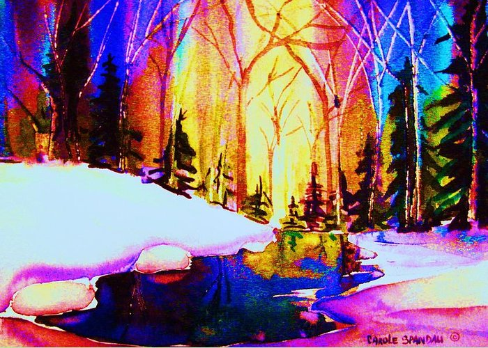 Reflections Greeting Card featuring the painting Reflection by Carole Spandau