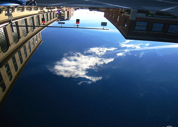 Reflection Greeting Card featuring the photograph Reflection Glass Roof by Gerard Yates