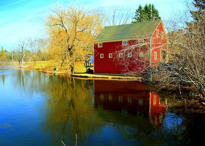 Fall Greeting Card featuring the photograph Reflection In Red by Doug Mills