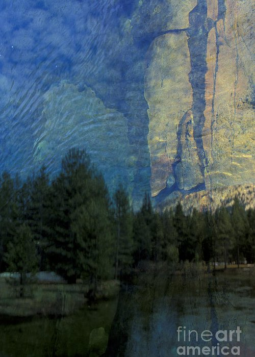California Greeting Card featuring the photograph Reflection In The Merced River by Stan and Anne Foster