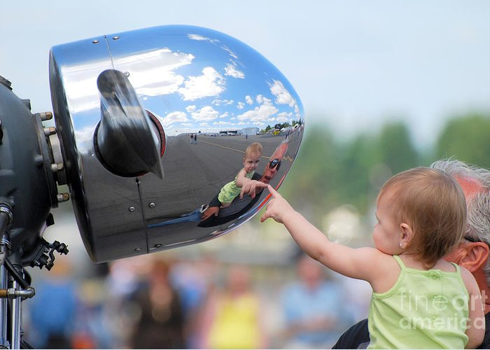 Children Greeting Card featuring the photograph Reflection by Larry Keahey