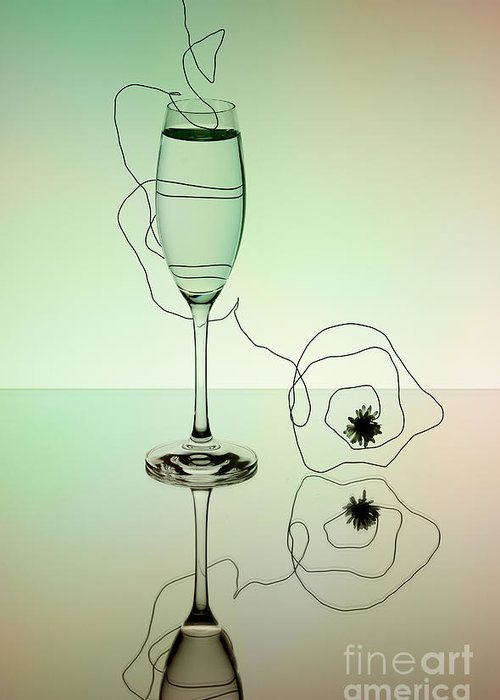Glass Greeting Card featuring the photograph Reflection by Nailia Schwarz