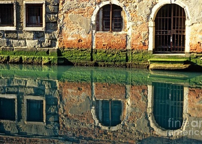 Venice Greeting Card featuring the photograph Reflection on Canal in Venice by Michael Henderson