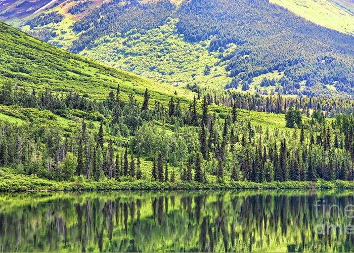 Alaska Greeting Card featuring the photograph Reflections Alaska II by Chuck Kuhn