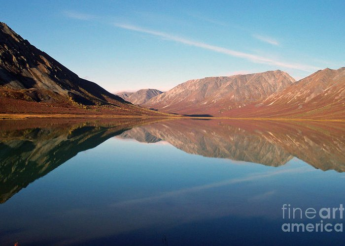 Lake Greeting Card featuring the photograph Mountains Reflected On A Beautiful Lake by Denise McAllister