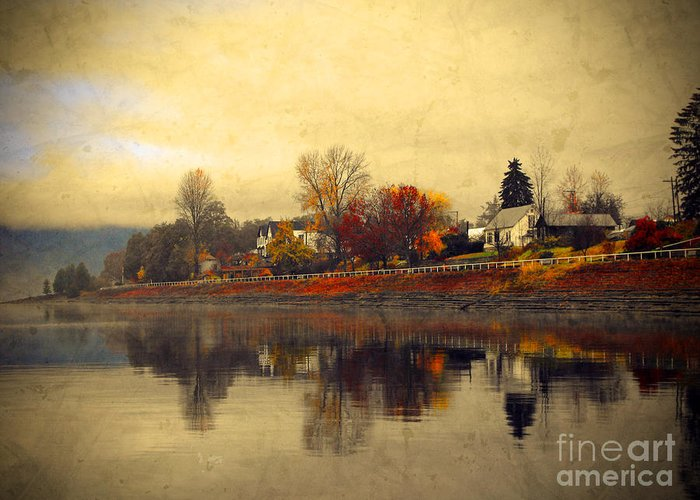 Trees Greeting Card featuring the photograph Reflections In Nakusp by Tara Turner