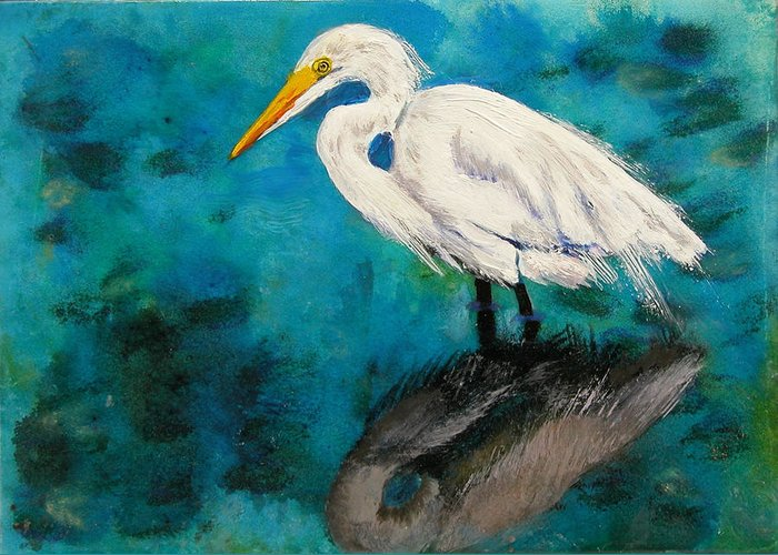 Acrylic Greeting Card featuring the pastel Reflections by Laura Gabel
