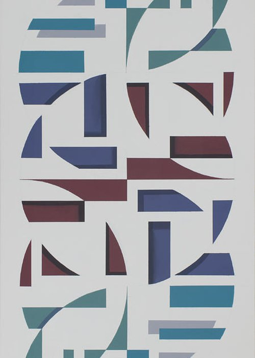 Abstract Geometric Painting Greeting Card featuring the painting Reflections by Marston A Jaquis