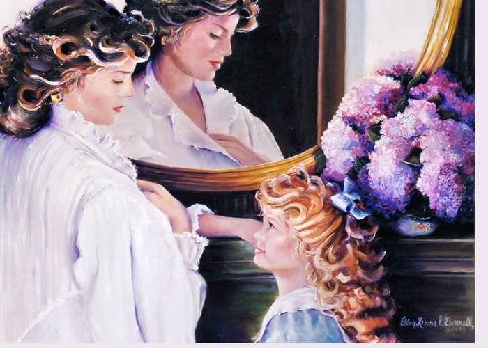 Women Greeting Card featuring the painting Reflections On Mothers Day by Ellen Lerner ODonnell