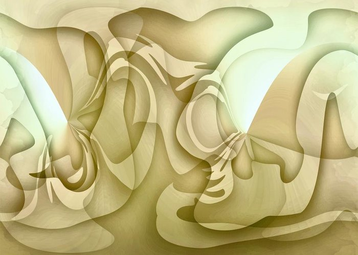 Abstract Greeting Card featuring the painting Relaxation by Dreamlight Creations