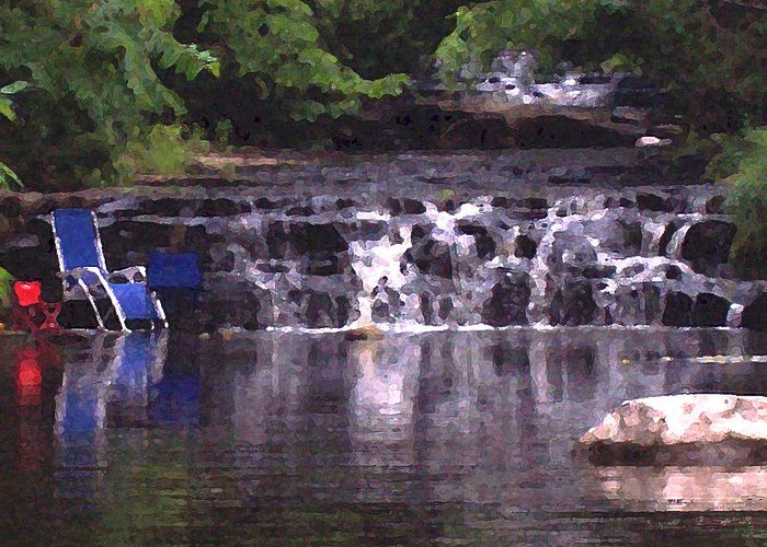 Landscape Greeting Card featuring the photograph Relaxing In The Creek by Lisa Kane